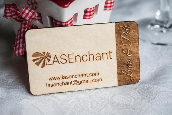 Unique Engraved Business Card