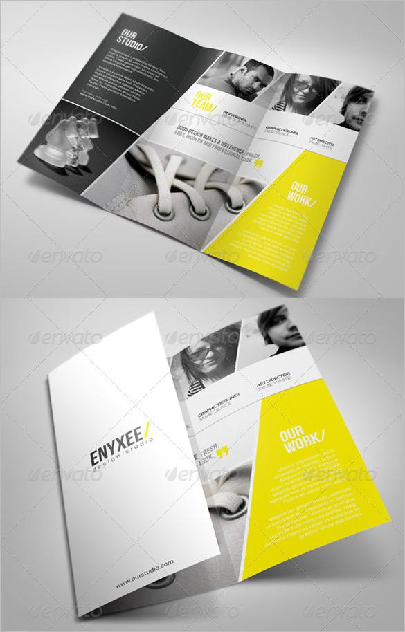 Unique Tri-Fold Brochure PSD