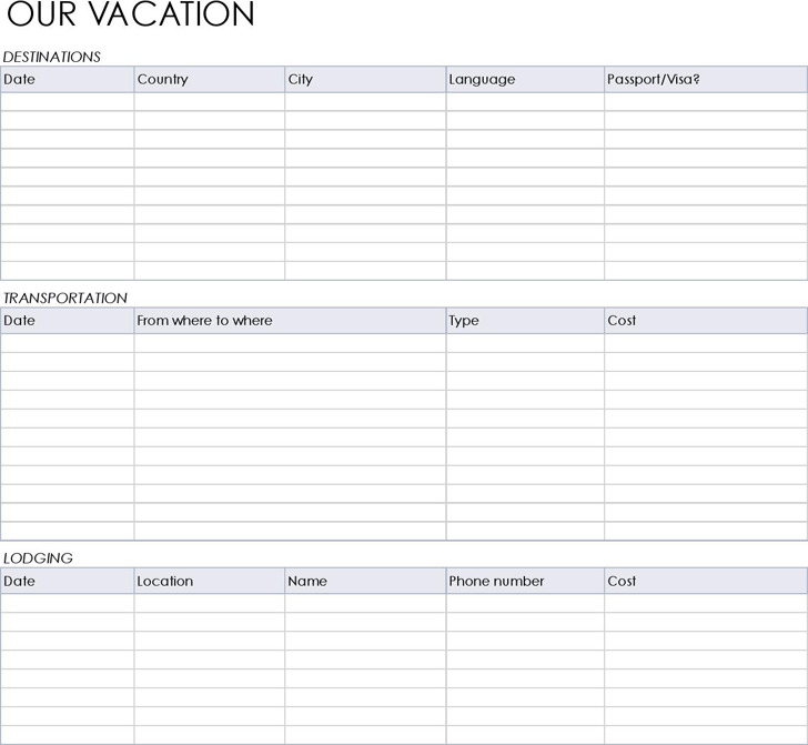 3 vacation tracking templates free download