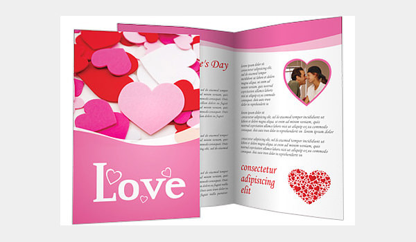 Valentine's Day Hearts Brochure Template