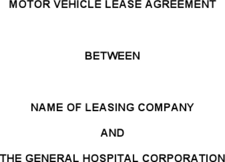 Vehicle Lease Agreement Template Free Word