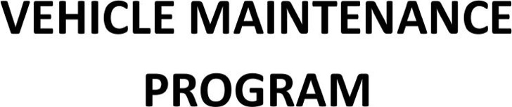 Vehicle Maintenance Program Schedule Template Download