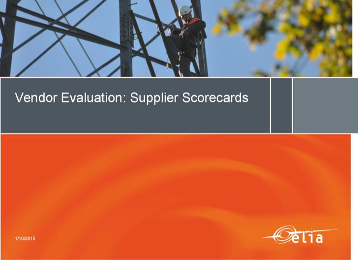 Vendor Evaluation Supplier Scorecard