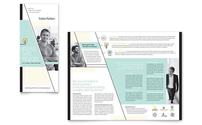 Venture Capital Firm Tri Fold Brochure Template