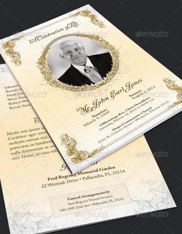 Victorian Funeral Program Template