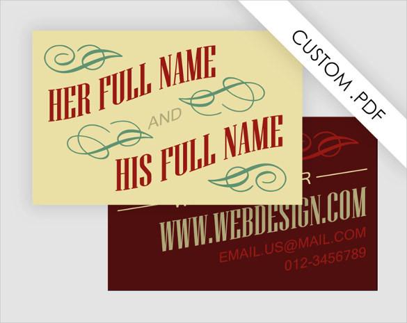 Vintage Business Card JPG Download