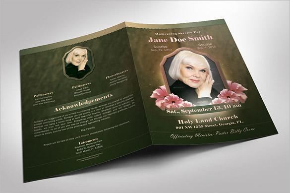 Vintage Death Funeral Program Template