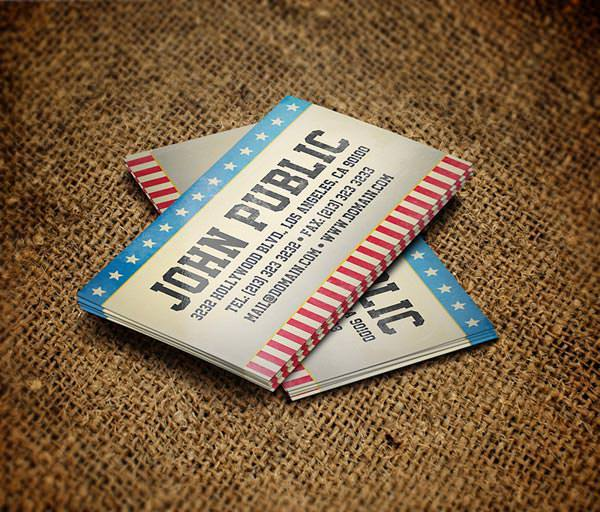 Vintage Style America Business Card