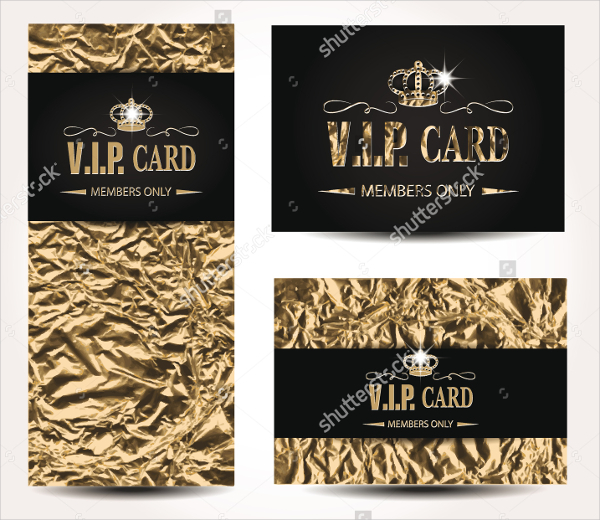 VIP Gold Foil Business Card