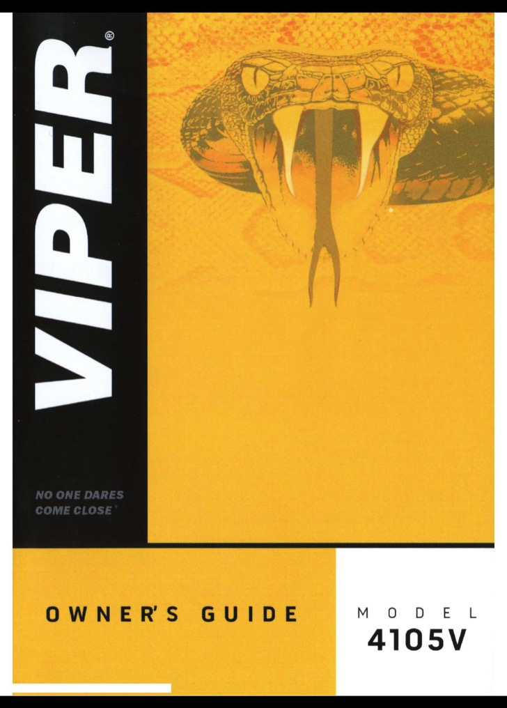 Viper Owners Manual Sample