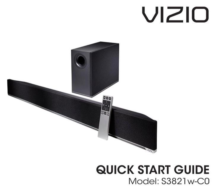 VIZIO Quick Start Guide Sample