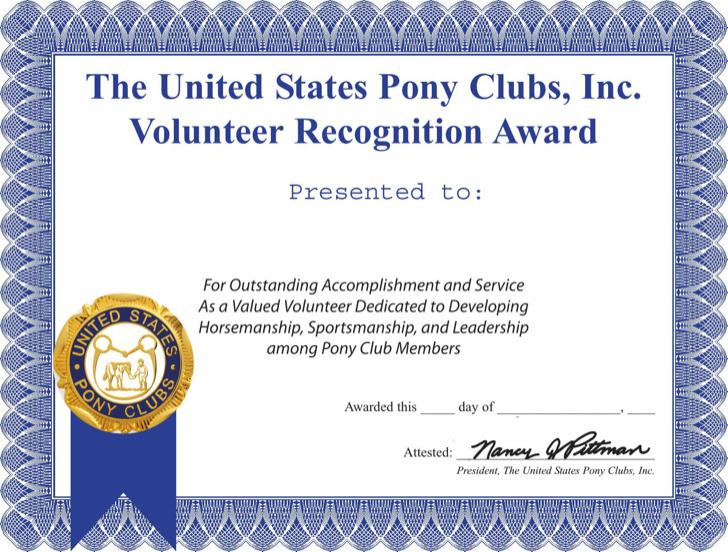 Volunteer Recognition Certificate Template