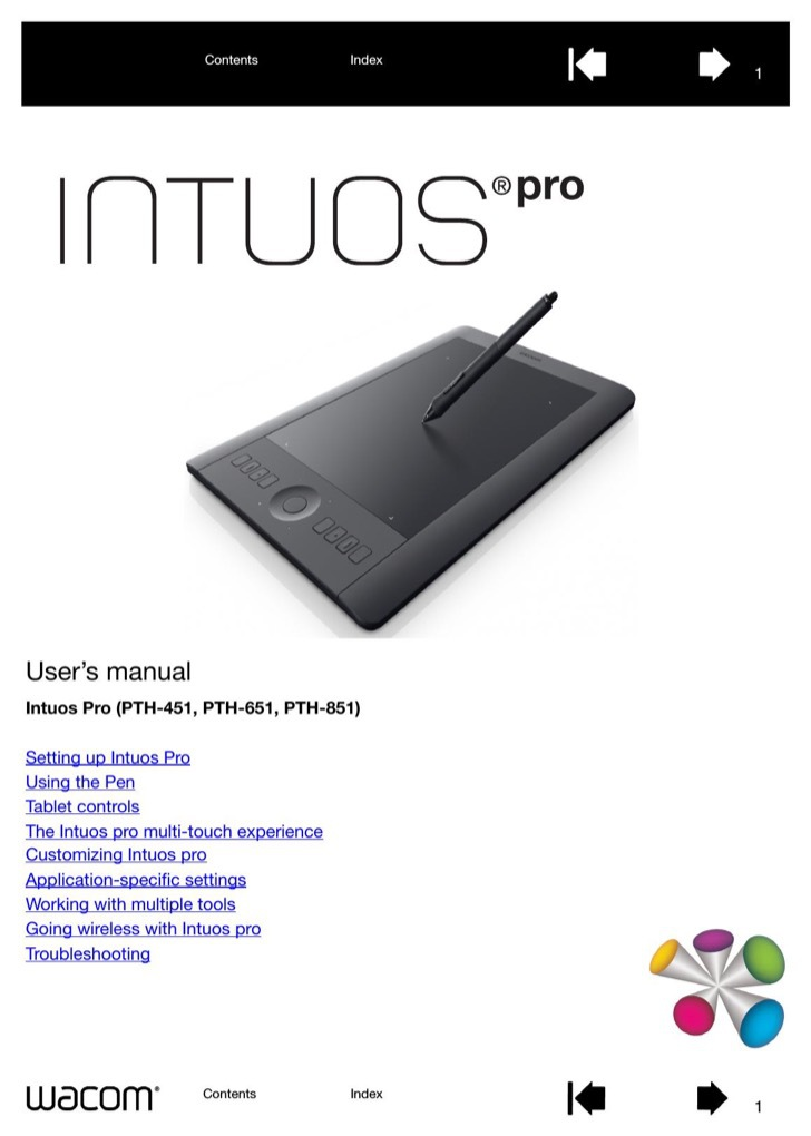 WACOM User's Manual Sample