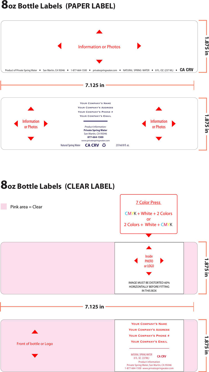 Water Bottle Label Template 1