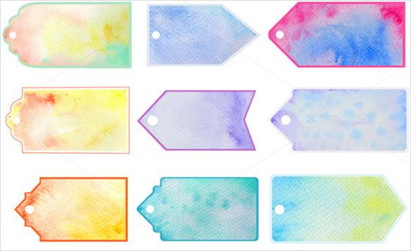 Watercolor Gift Tag Printable Template