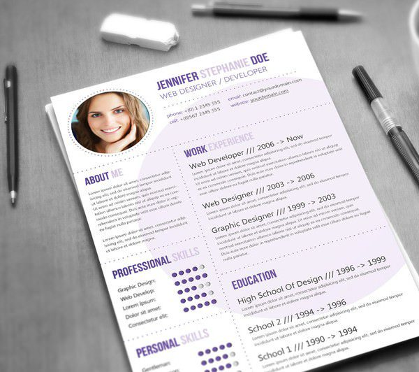 Web Designer / Developer Resume Template