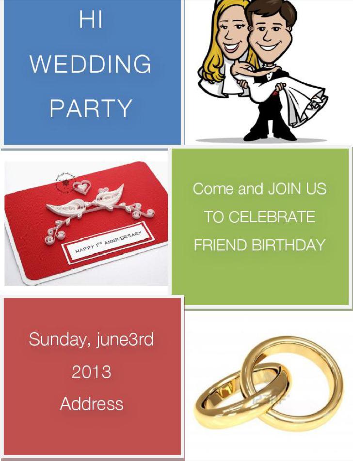 Wedding Blank Invitation Free