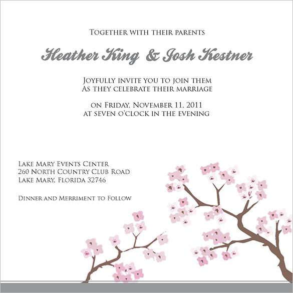 Wedding Invitation Templates Hobby Lobby Example