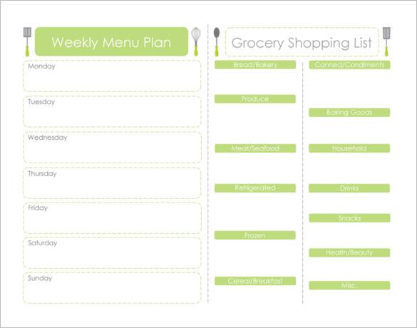 Weekly Dinner Meal Schedule Template PDF