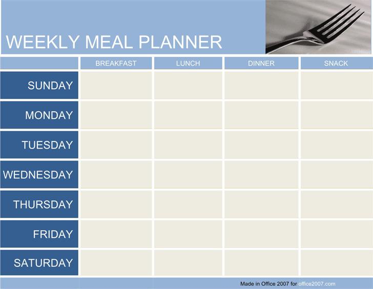 Weekly Meal Planner 1