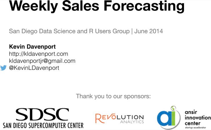 Weekly Sales Forecast Template