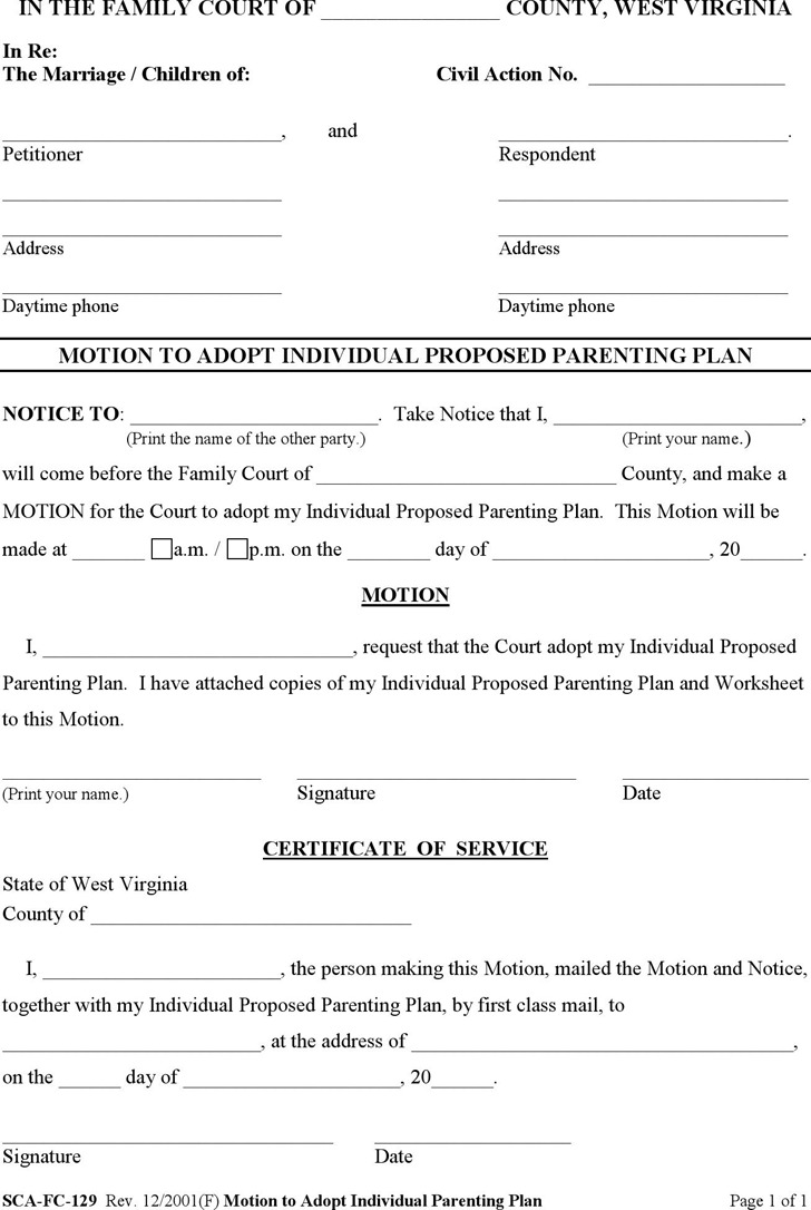 11 West Virginia Divorce Papers Free Download