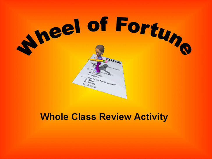 Wheel of Fortune Game Template