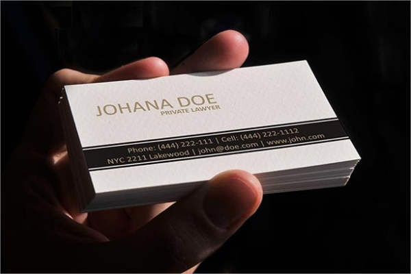 White Lawyer Business Card Template