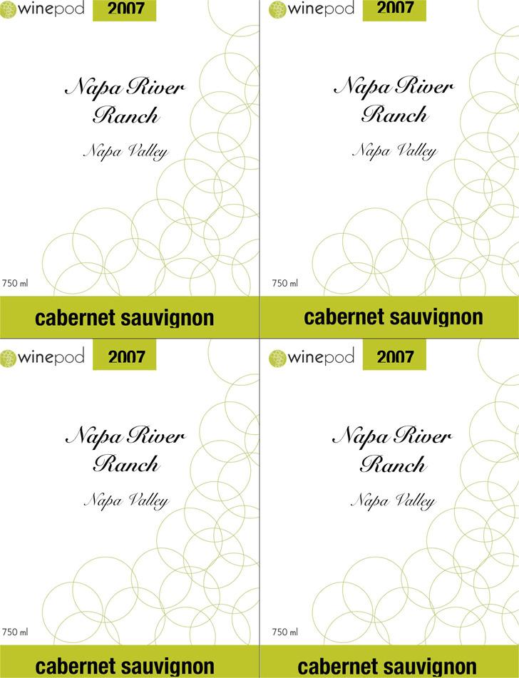 Wine Label Template 4