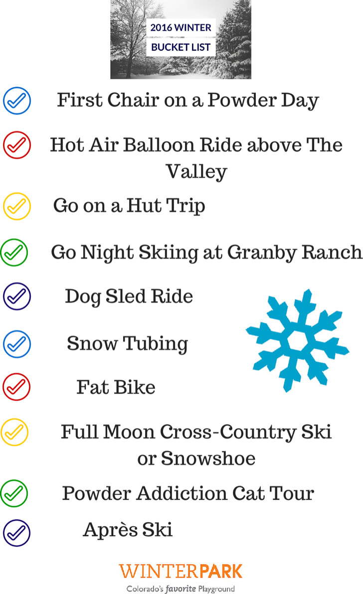 Winter Bucket List Template