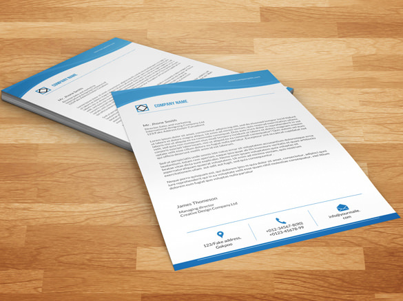 Word Format Corporate Company A4 Letterhead