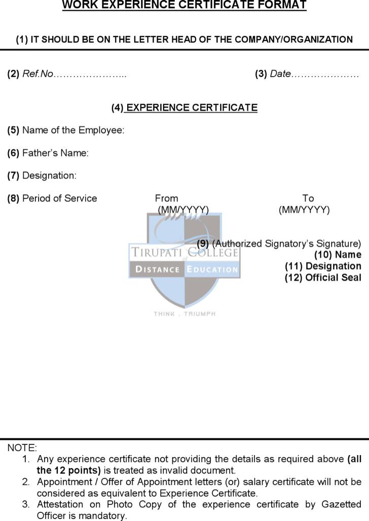 Work Experience Certificate Template2
