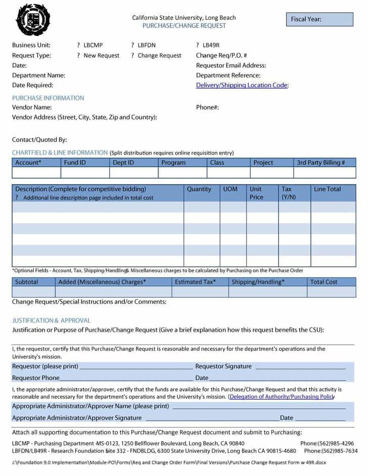 Work Order Request Form Excel Download