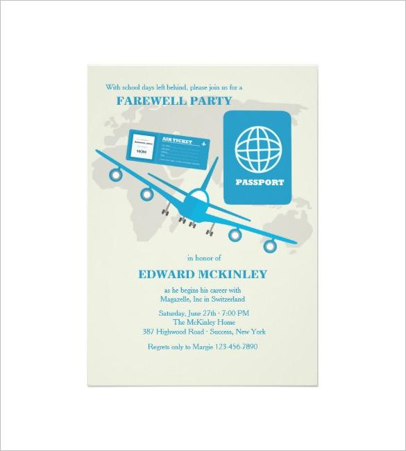 World Travels Farewell Party Invitation Template