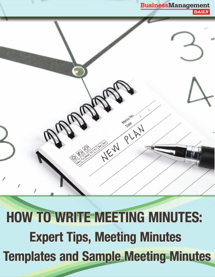Writing Of Business Meeting Minutes