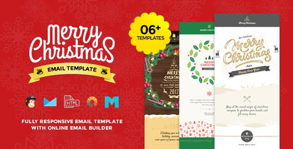 Xmas Responsive Email Template Layered Psd Format