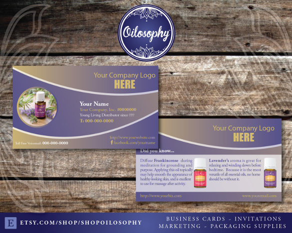 Young Living Business Card Download
